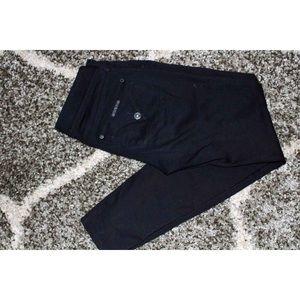Hudson Black Colin Flap Skinny Jeans Size: 28